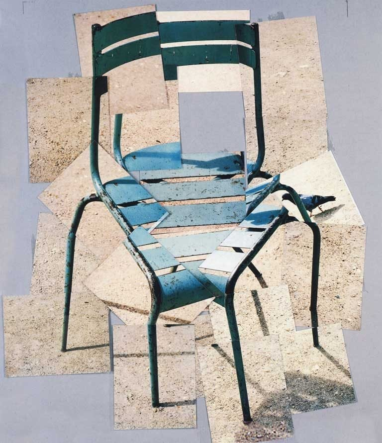 David Hockney's famous 1985 photo collage of a chair