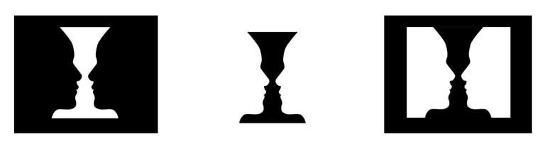 Example Illustration of the Positive and Negative Space in Rubin's Vase